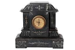 19th Century Victorian French Marble Mantel Clock