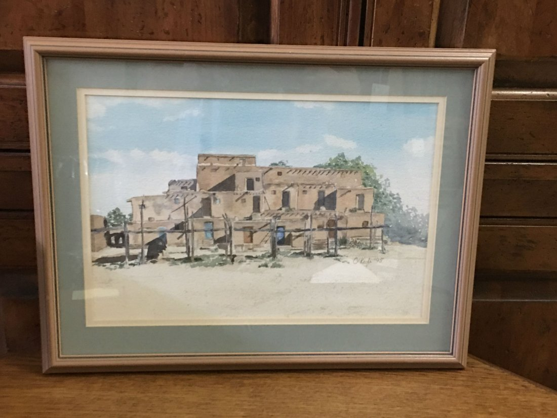 Signed O'keefe Watercolor Painting