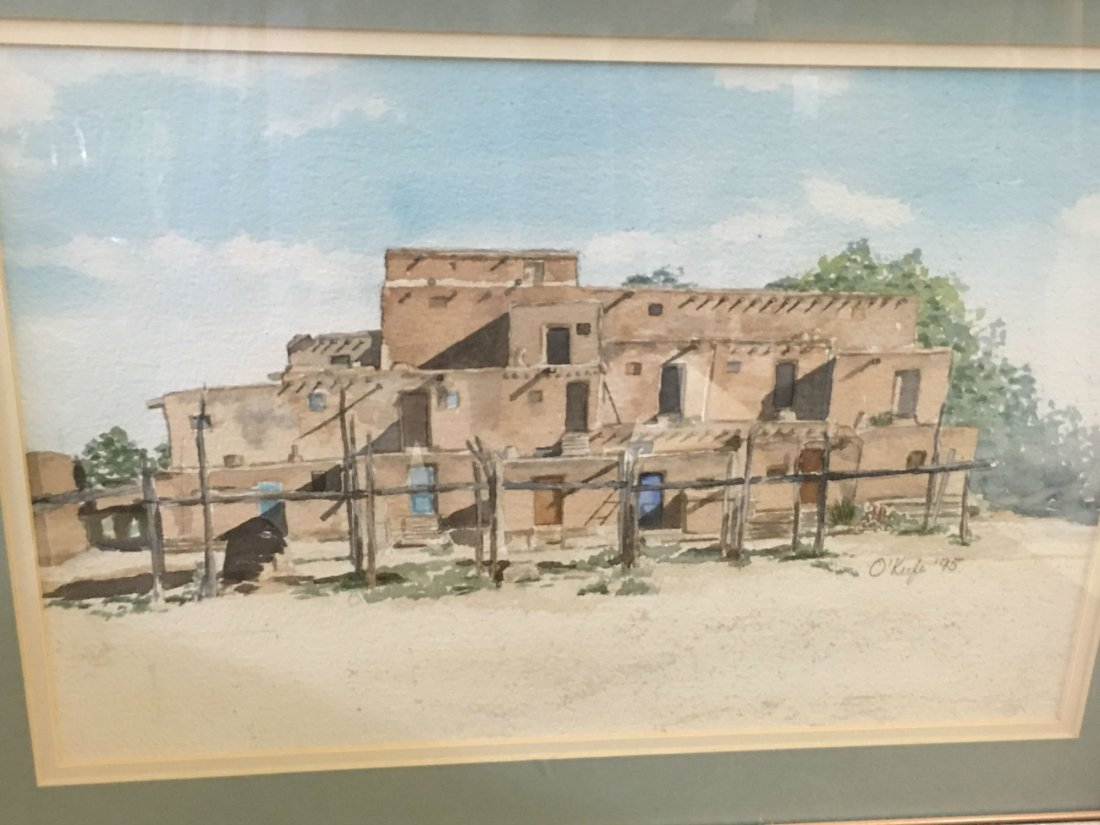 Signed O'keefe Watercolor Painting - 2