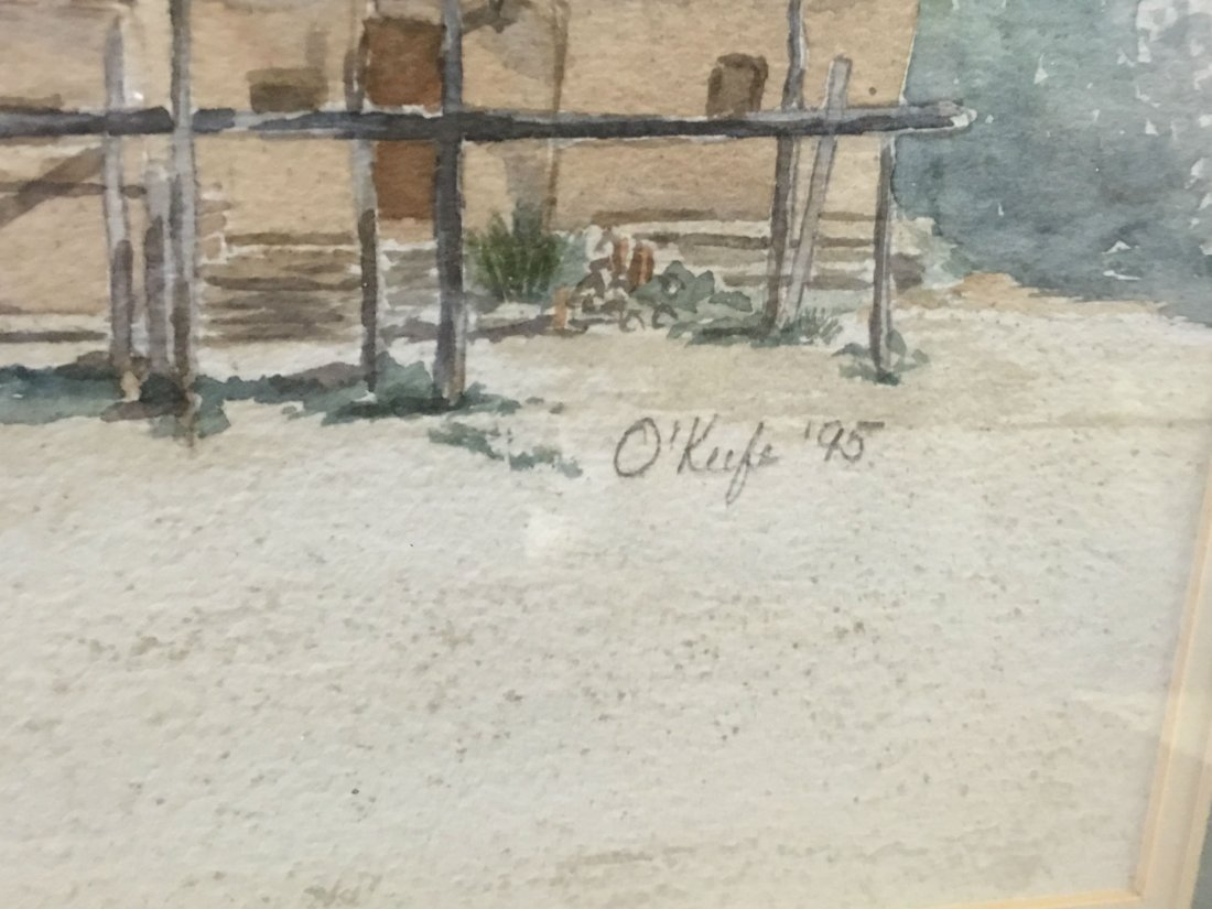 Signed O'keefe Watercolor Painting - 3