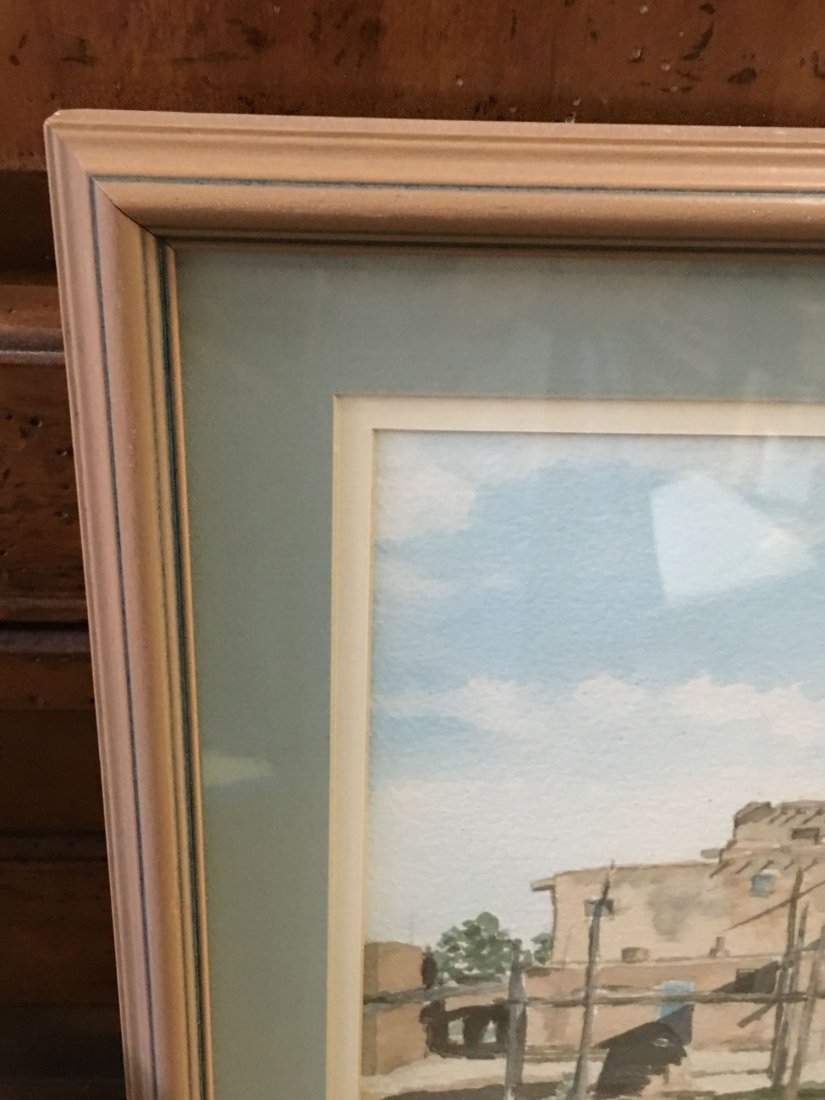 Signed O'keefe Watercolor Painting - 4