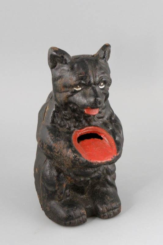Hubley Cast Iron Bear Bank with Red Honey Pot
