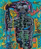 Jean Michael Basquiat (Mixed Media on Paper)
