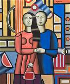 Fernand Leger (Mixed media on paper)