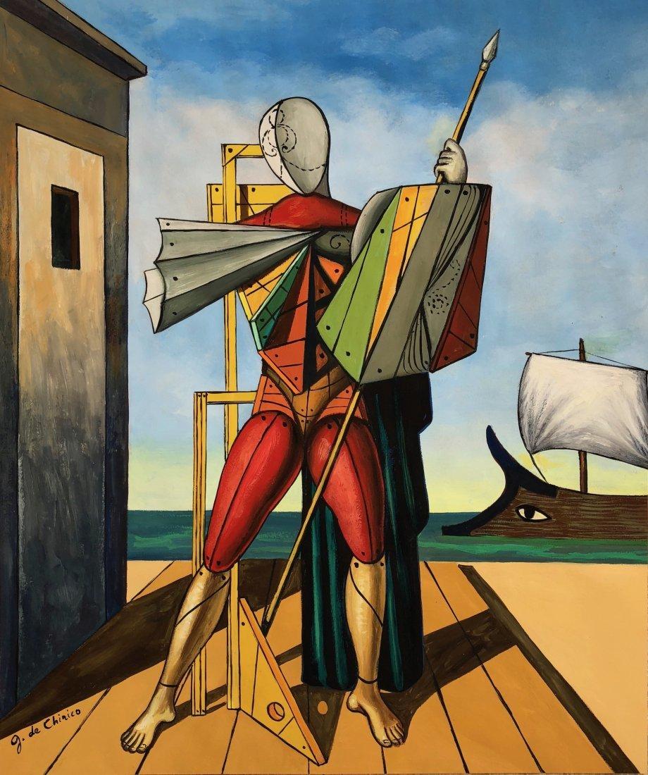 Giorgio de Chirico (Gouache on Paper)