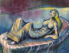 Gouache on paper Henry Moore painting