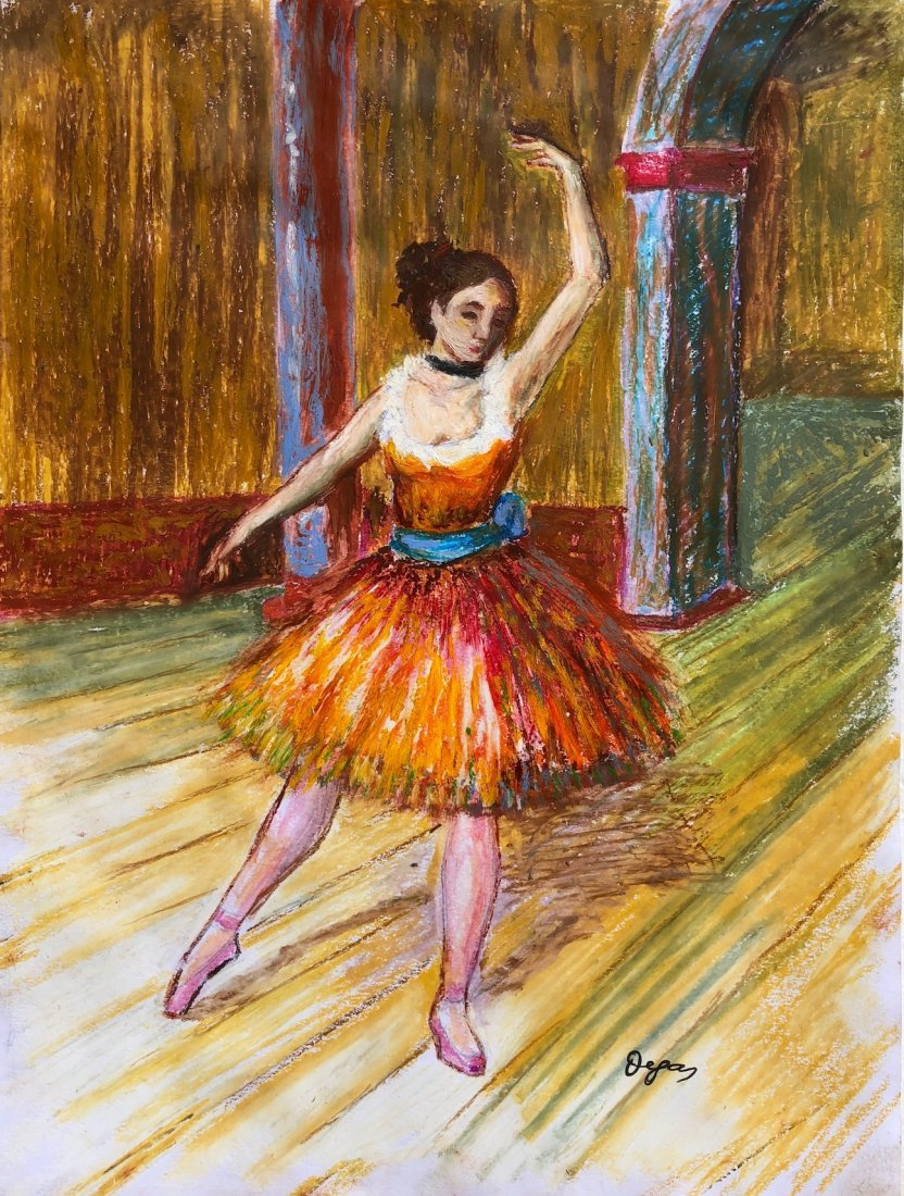 Edgar Degas (Pastel on Paper)