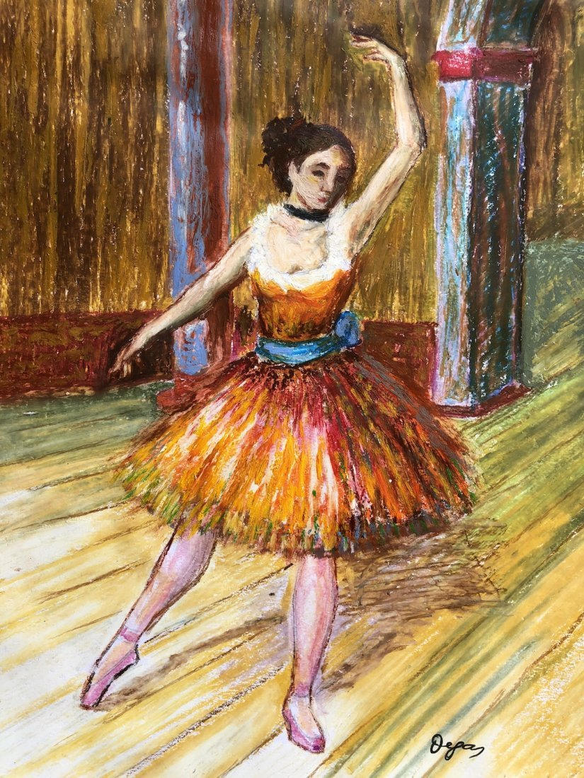 Edgar Degas (Pastel on Paper) - 2