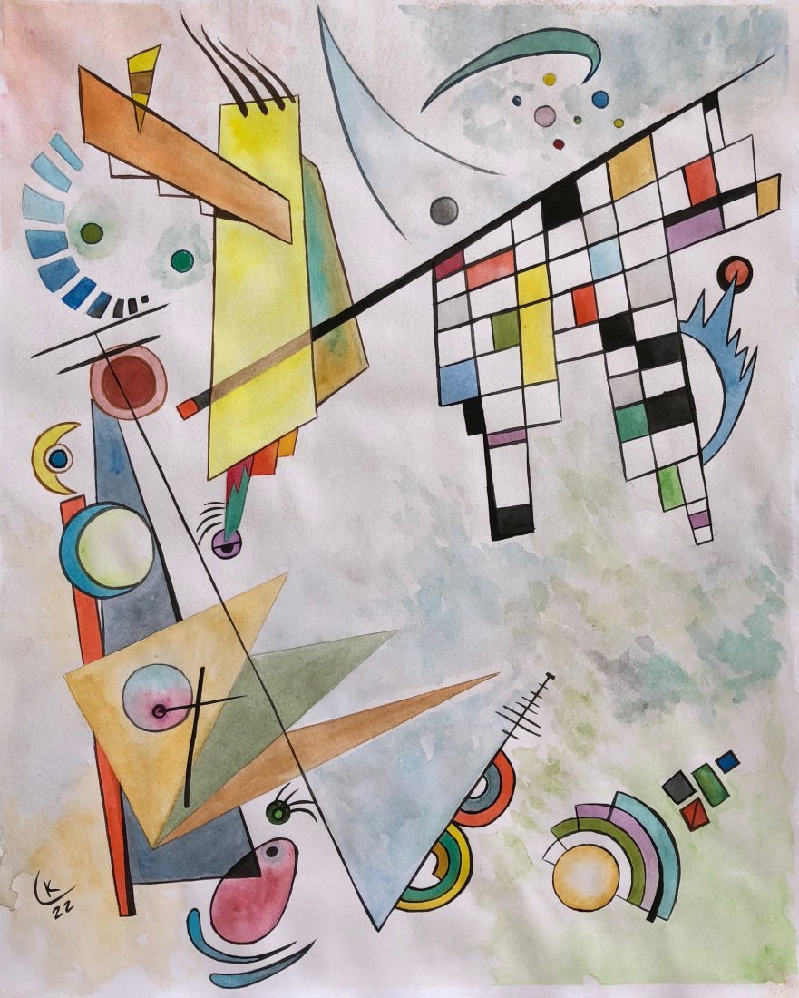 Wassily Kandinsky(Watercolor on paper)