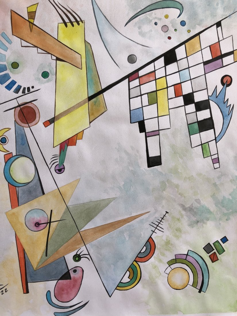 Wassily Kandinsky(Watercolor on paper) - 2