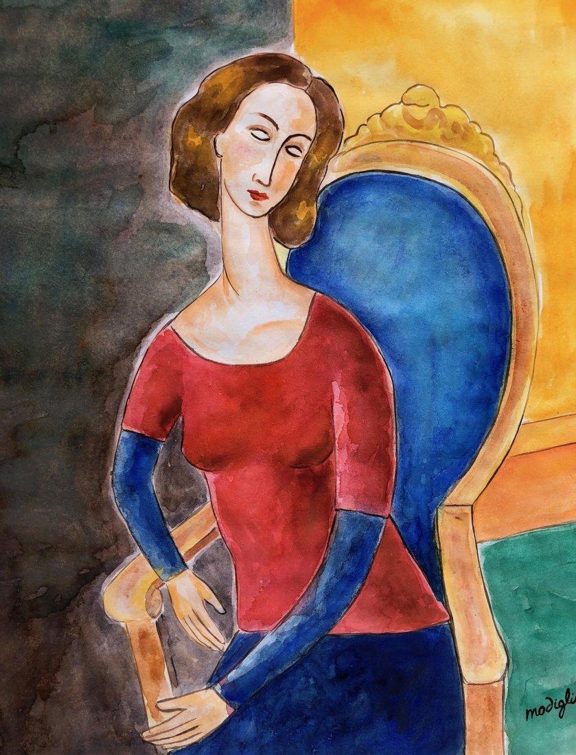 Amedeo Modigliani (Watercolor on paper) - 2
