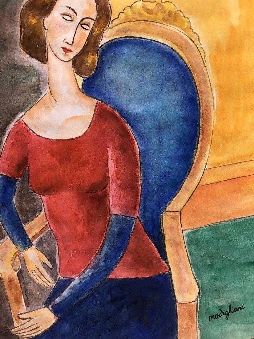 Amedeo Modigliani (Watercolor on paper) - 3