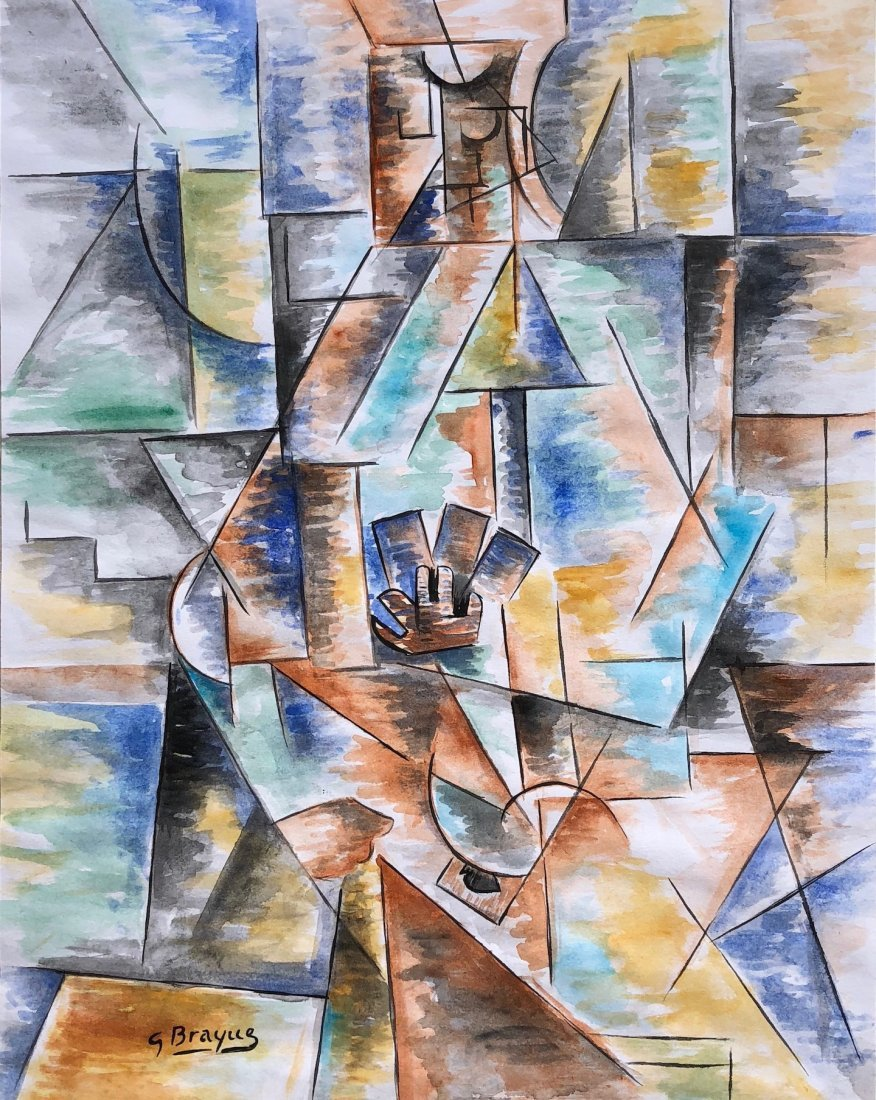 Georges Braque (Watercolor on paper)