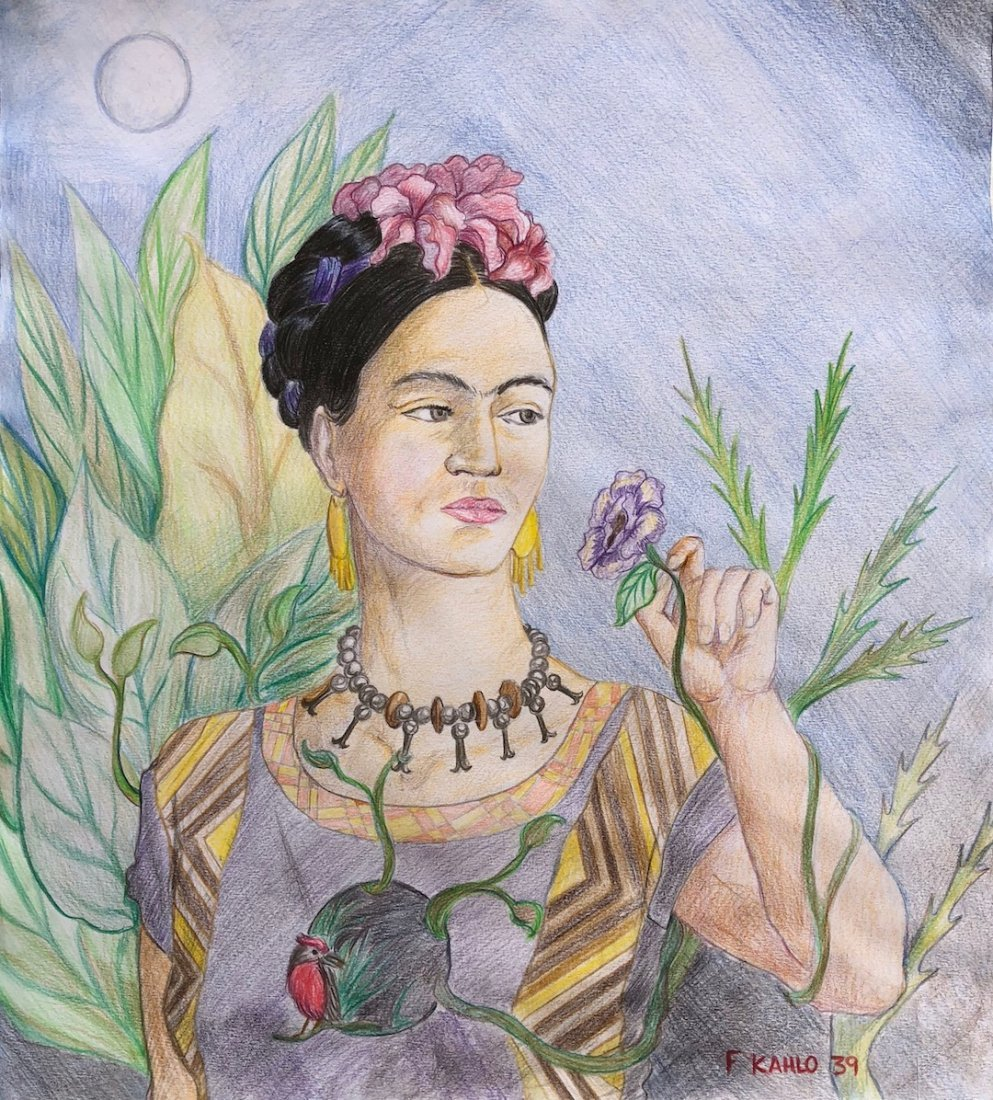 Frida Kahlo (Colored Pencil on Paper)