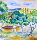 Paul Cezanne Watercolor on paper