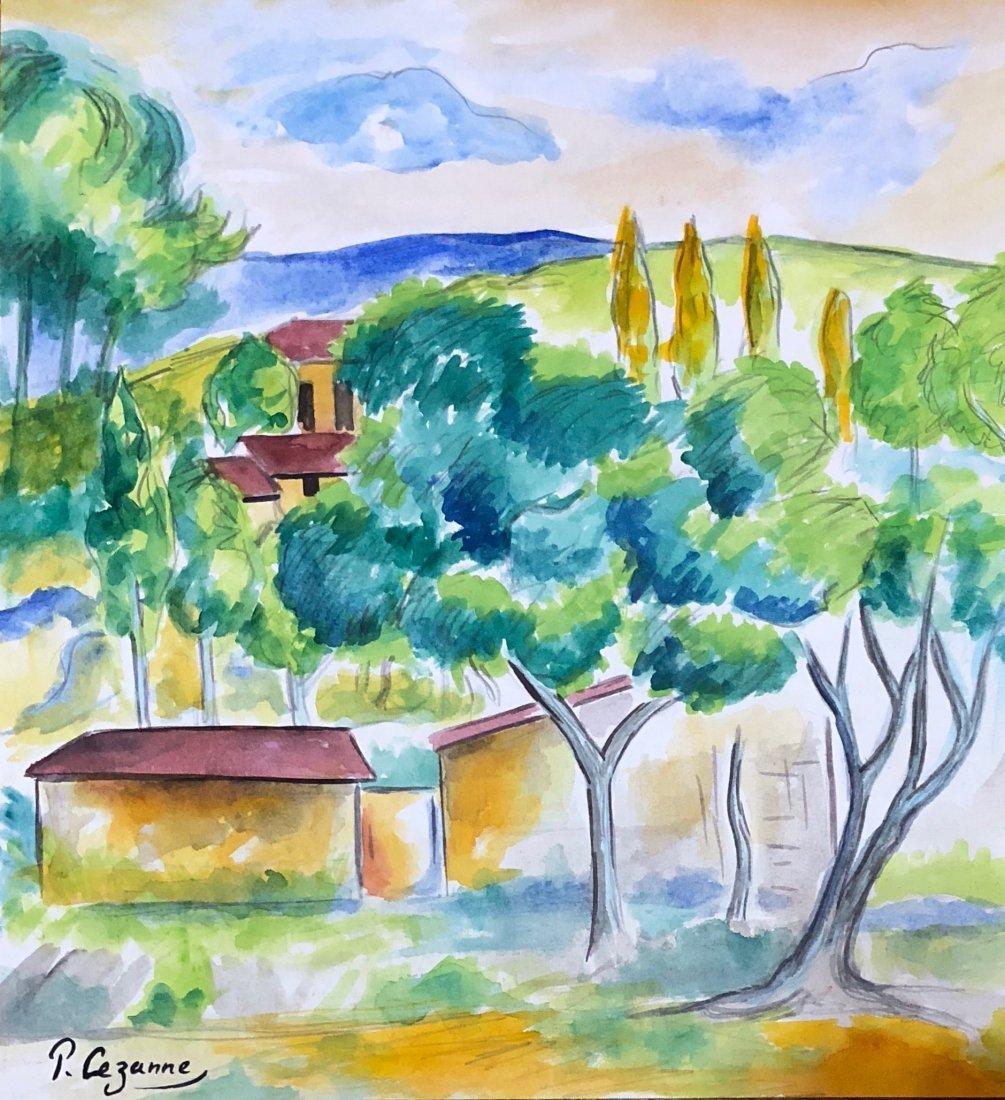 Paul Cezanne (Watercolor on paper)