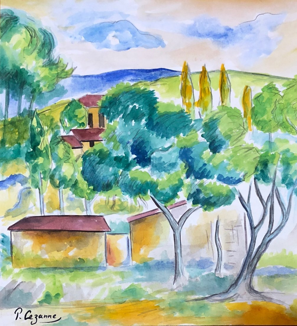 Paul Cezanne (Watercolor on paper)
