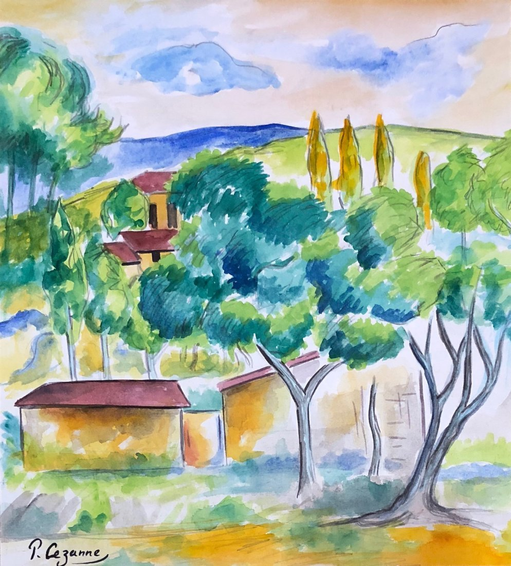Paul Cezanne (Watercolor on paper) - 2