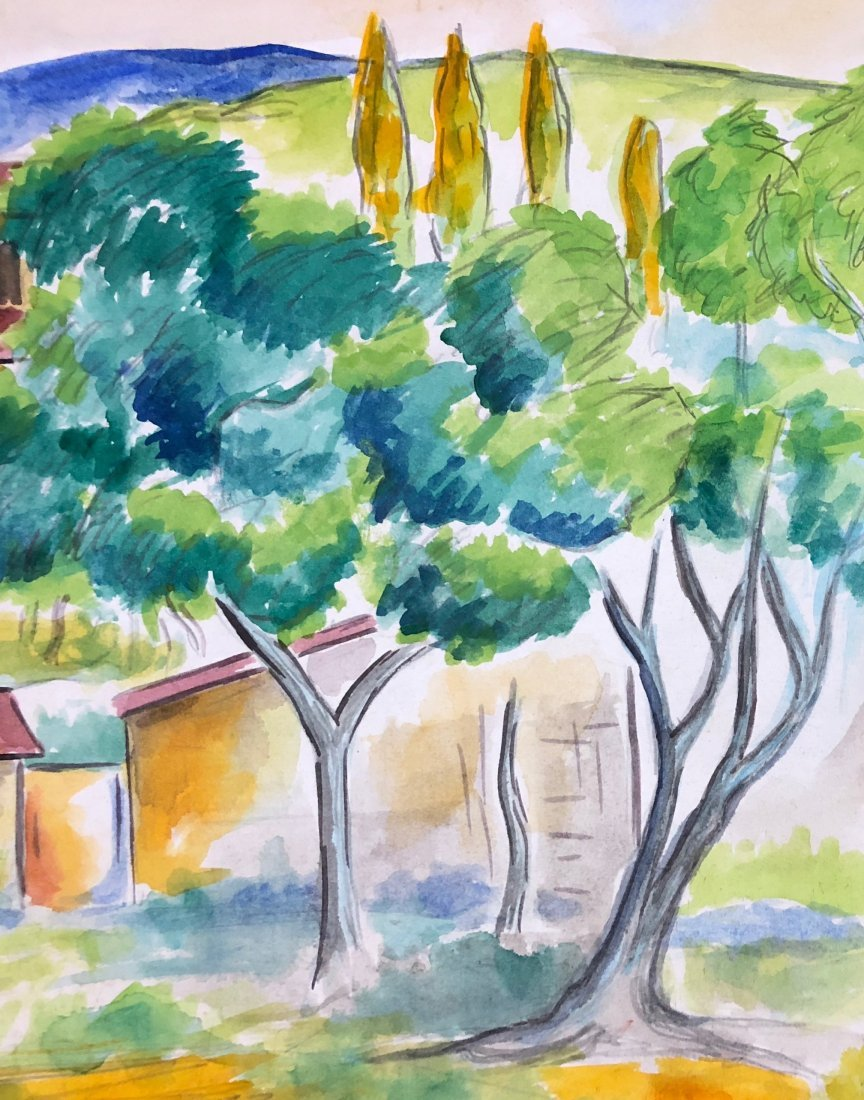 Paul Cezanne (Watercolor on paper) - 4