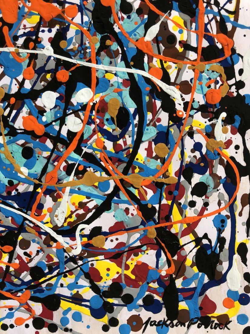 Signed Jackson Pollock (Gouache on paper) - 3