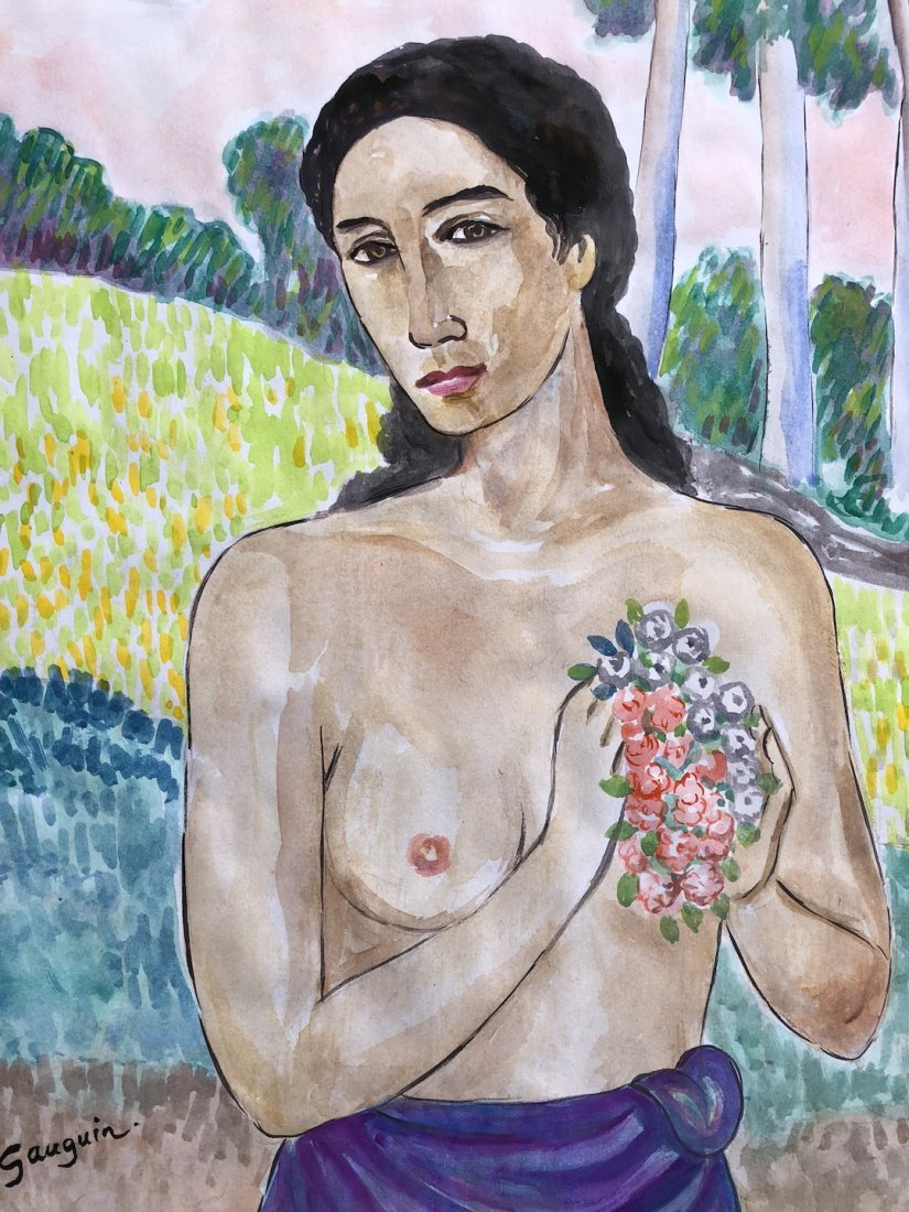 Painting signed P. Gauguin - 2