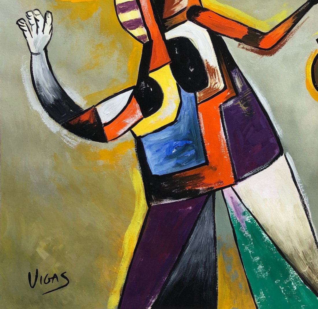 Painting signed Vigas - 3