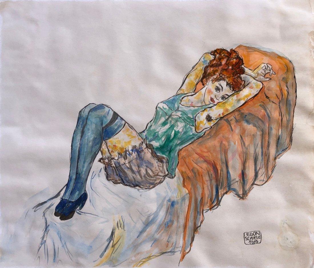 Painting Signed Egon Schiele