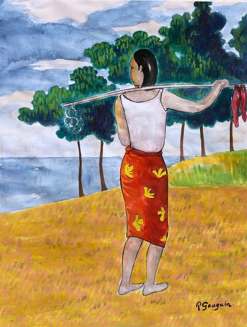 Paul Gauguin (Watercolor on paper)