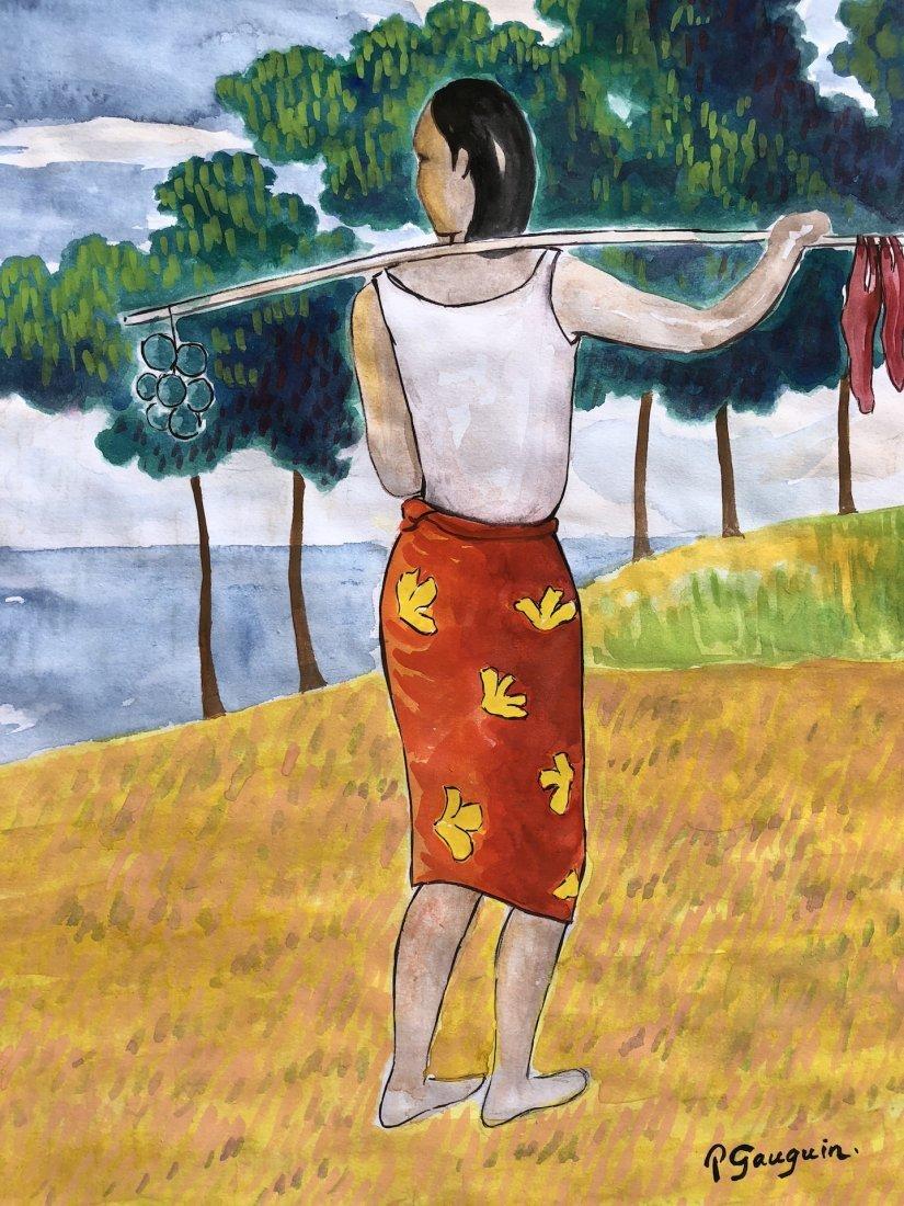 Paul Gauguin (Watercolor on paper) - 2