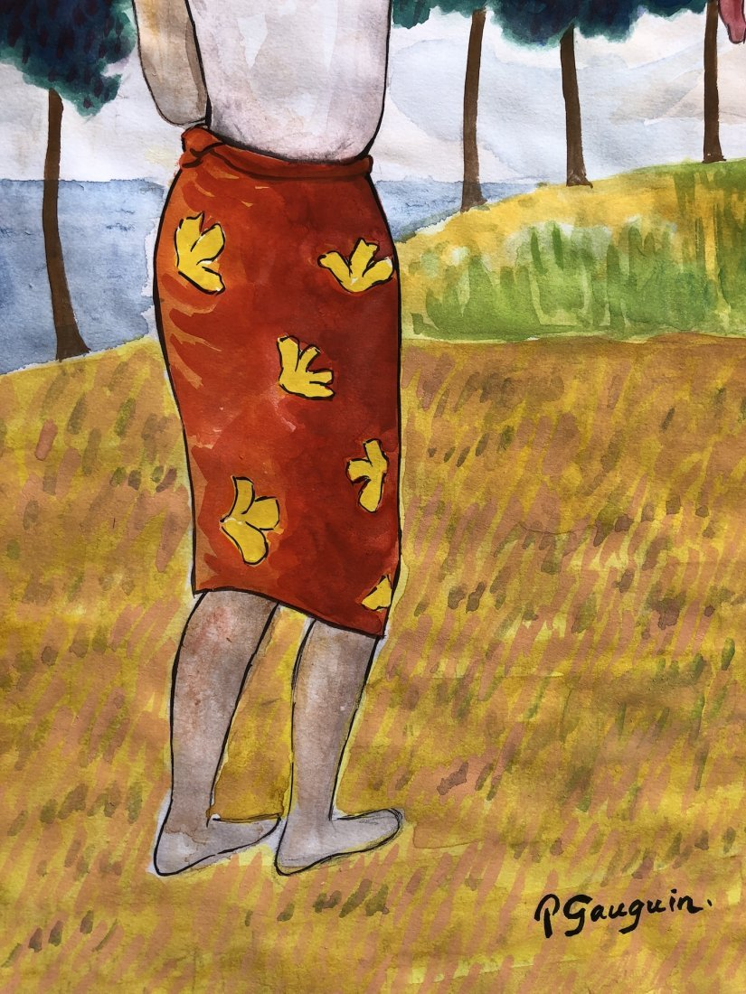 Paul Gauguin (Watercolor on paper) - 3