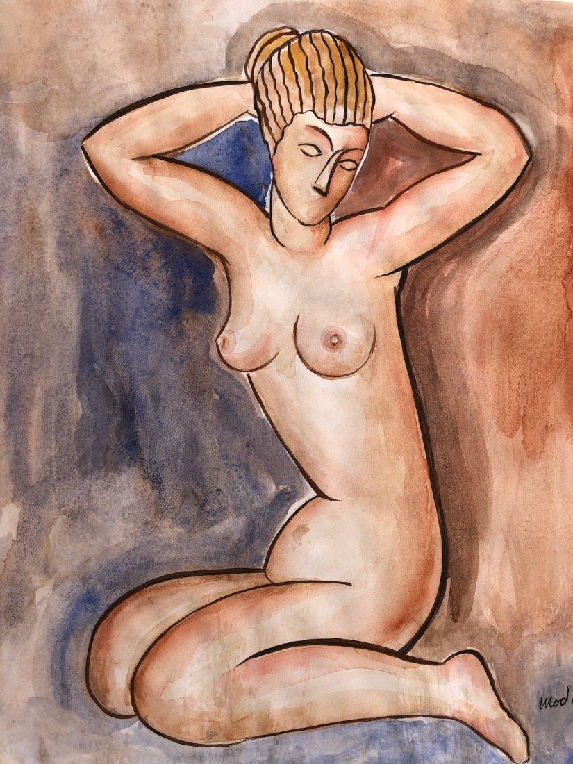Painting signed Modigliani - 3