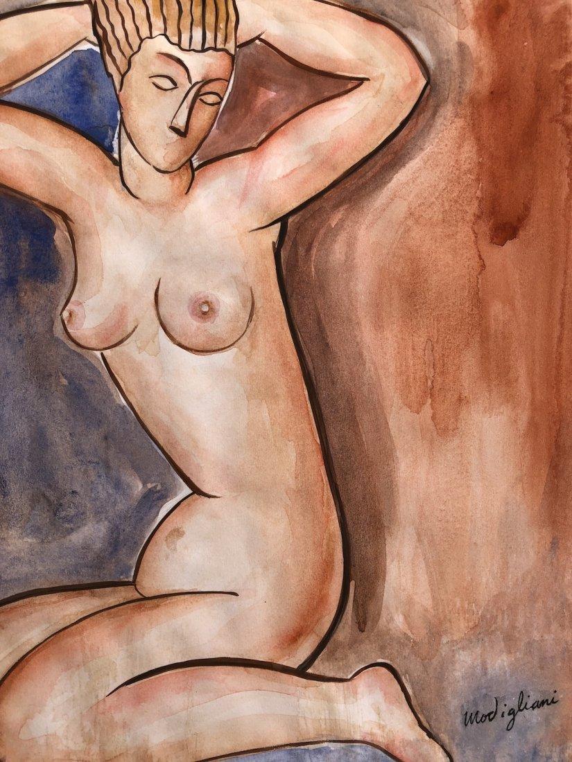 Painting signed Modigliani - 4
