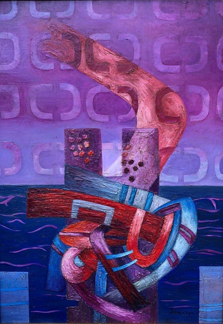 Fernando de Szyszlo (Oil on Canvas) - 3