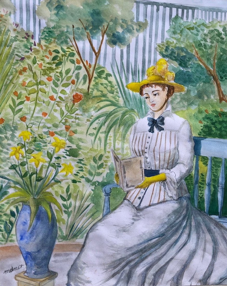Edouard Manet (Watercolor on paper)