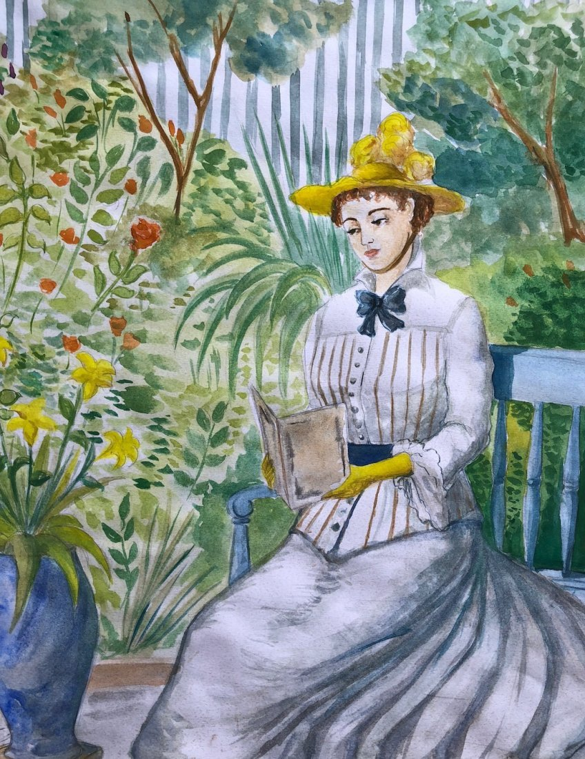 Edouard Manet (Watercolor on paper) - 3