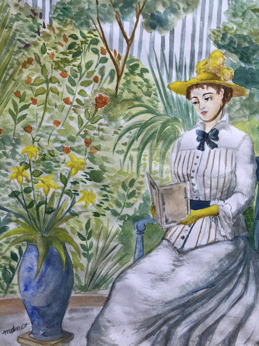 Edouard Manet (Watercolor on paper) - 4