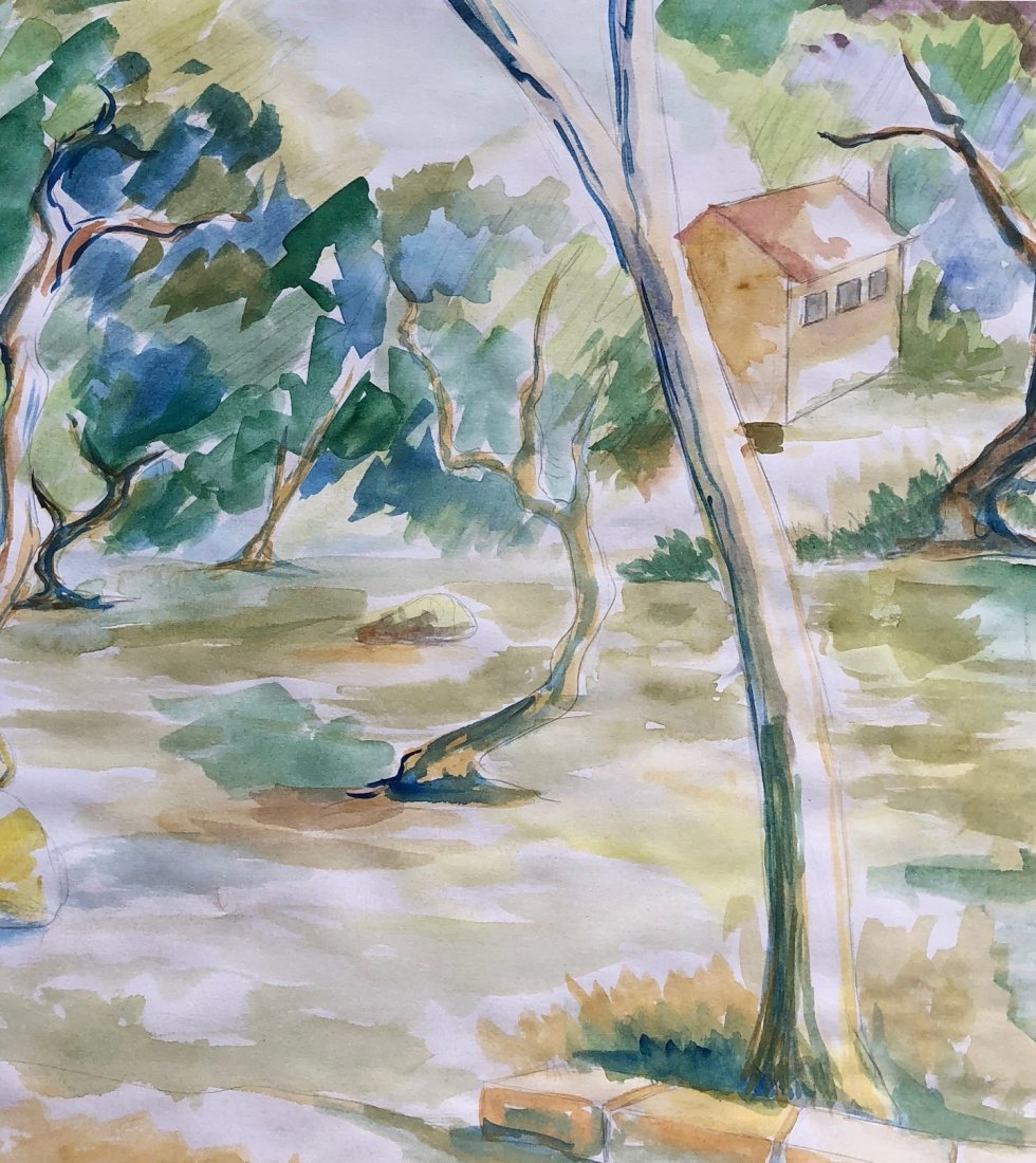 Signed P. Cezanne (Watercolor on paper) - 3