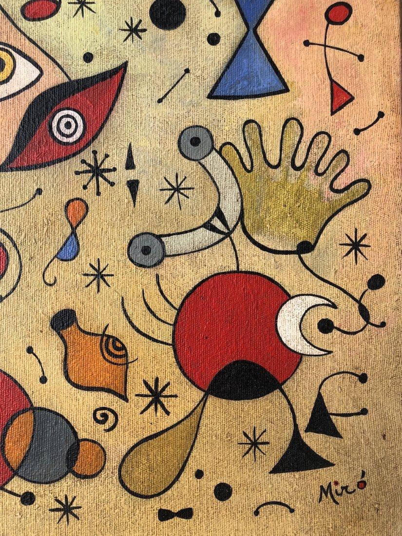 Joan Miro (Oil on Canvas) - 2