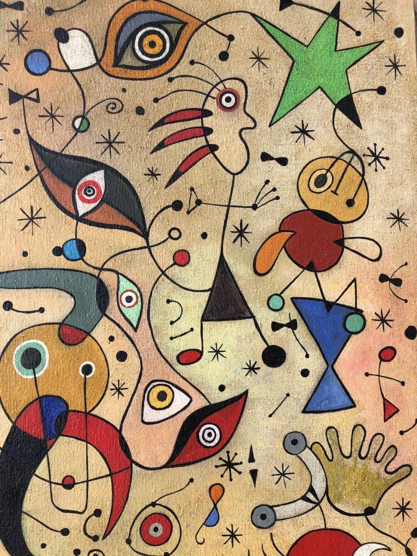Joan Miro (Oil on Canvas) - 3