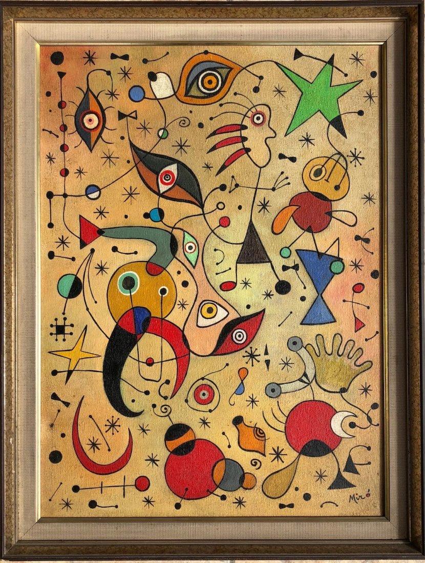 Joan Miro (Oil on Canvas) - 6