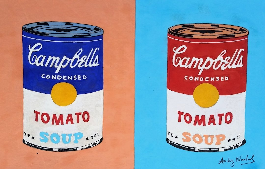 Signed Andy Warhol (Watercolor on paper)