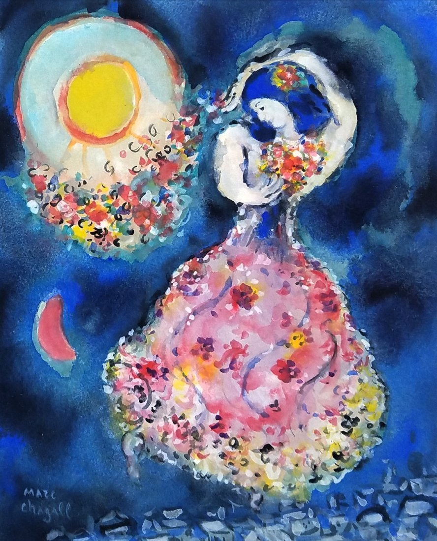 Signed Marc Chagall (Gouache on paper)