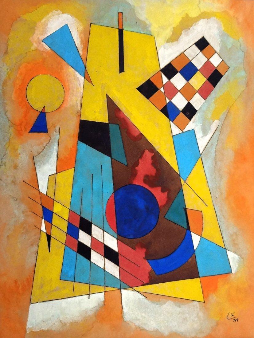Wassily Kandinsky (ATTR) Mixed media on paper