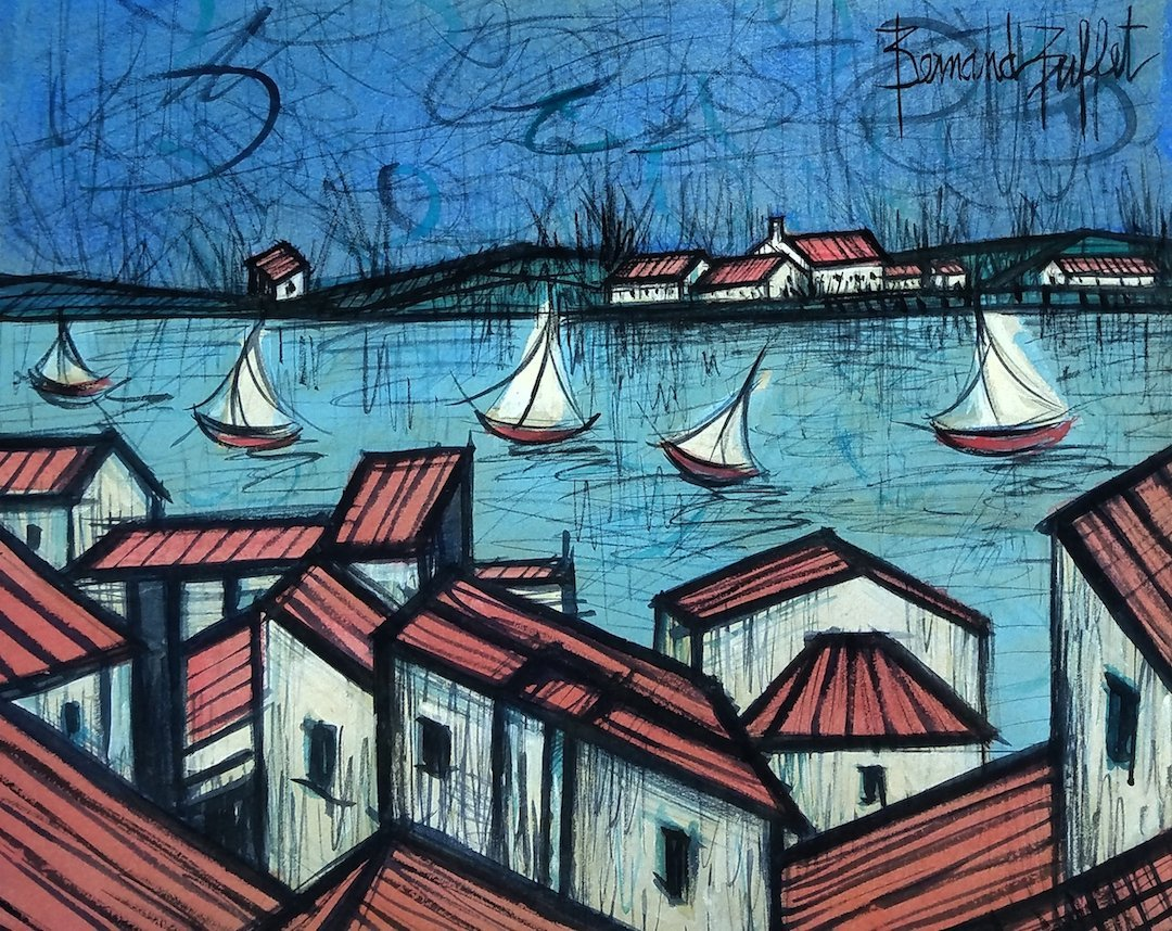 Signed Bernard Buffet (Watercolor on paper)
