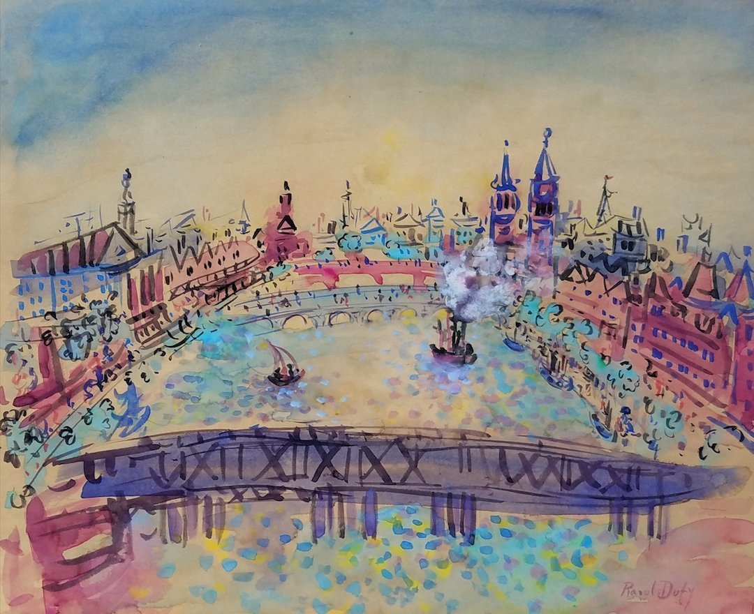 Raoul Dufy (ATTR) (Watercolor on paper)