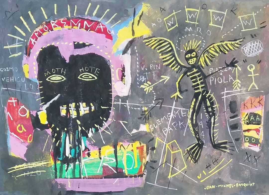 Signed Jean Michel Basquiat