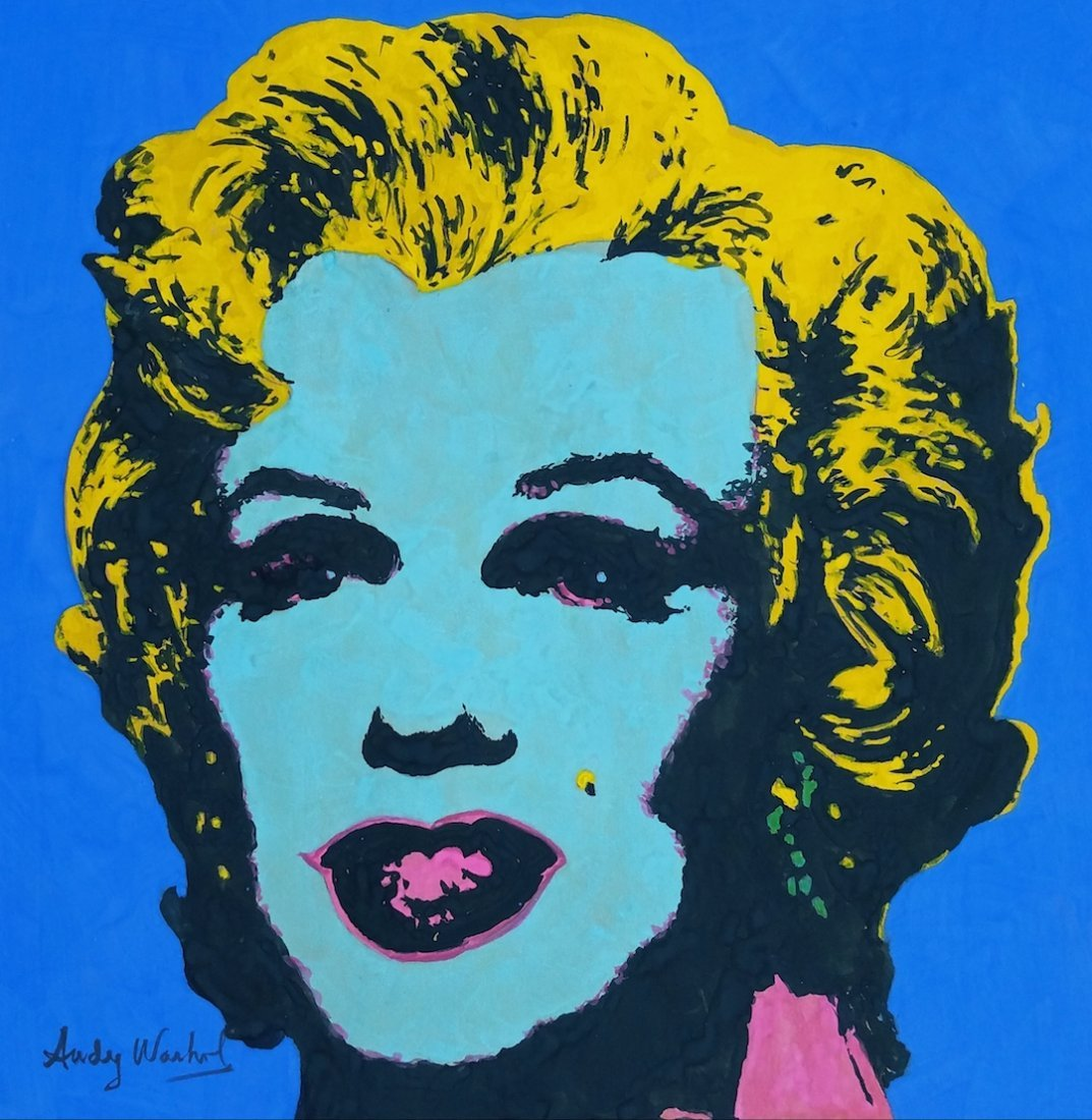 Watercolor on paper Painting signed Andy Warhol