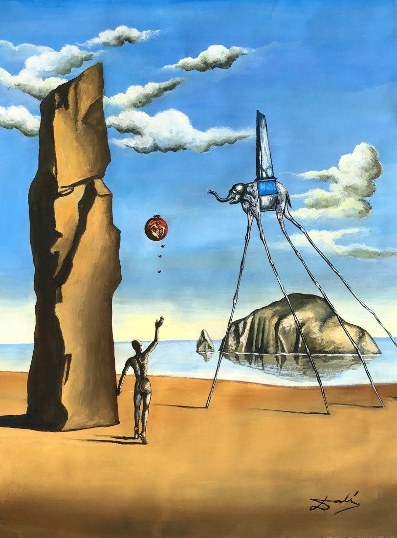 Salvador Dali (Gouache on paper)