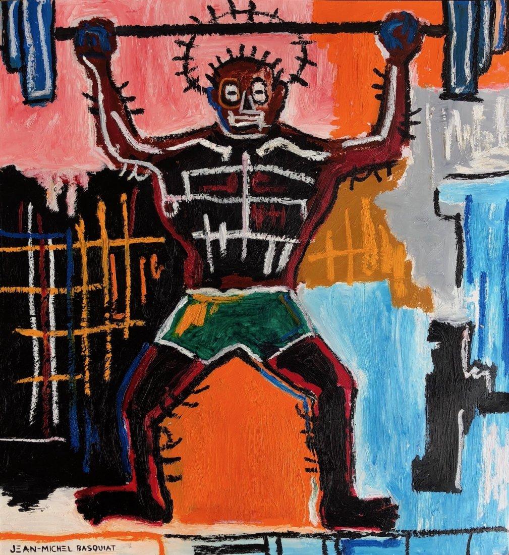Jean Michel Basquiat (Oil Stick Mixed media on paper)