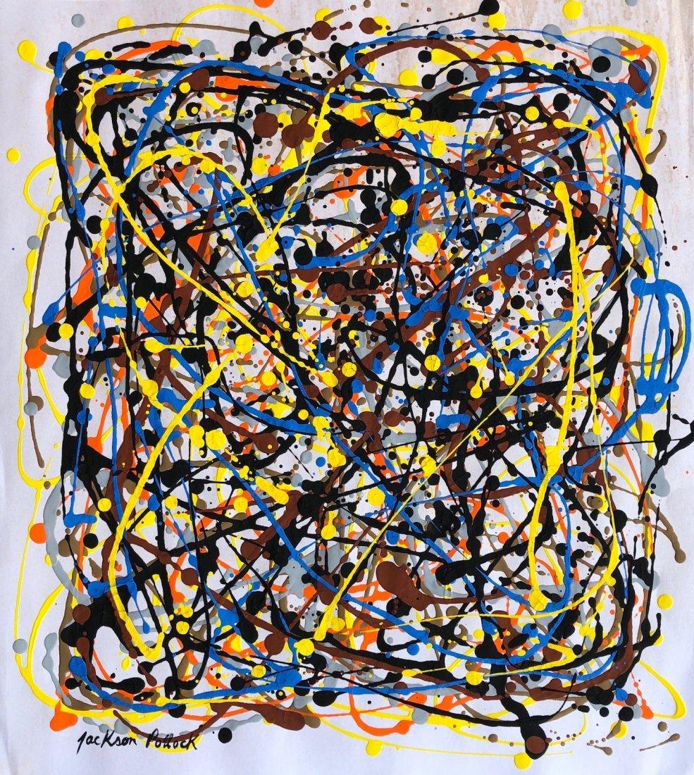 Jackson Pollock (Gouache on Paper)